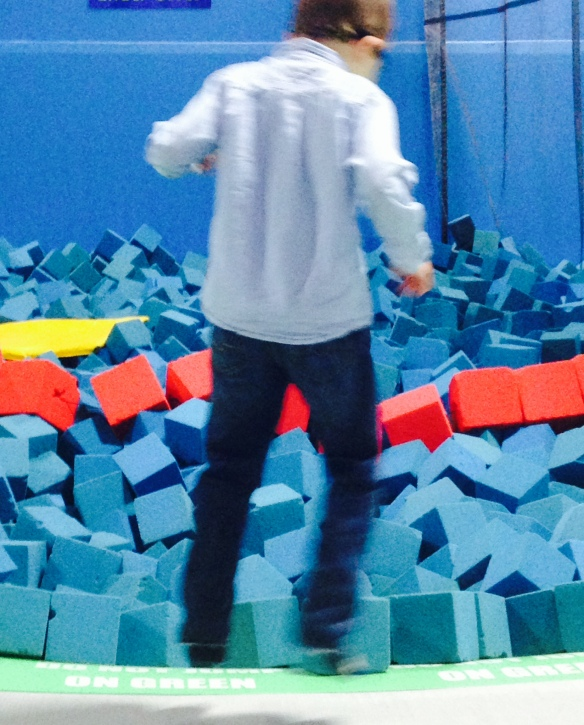 Martin in action at the trampoline gymnasium. Not lost. Just getting healthier.