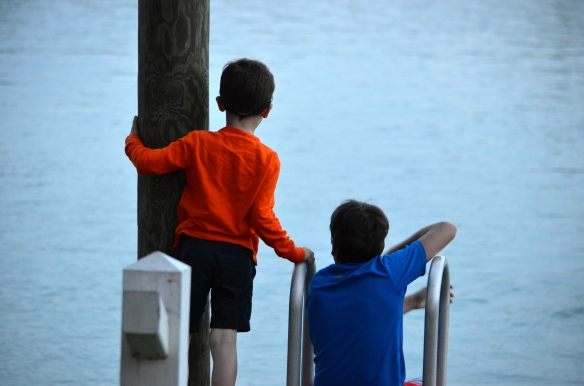 Martin, on the left, with his cousin Luke, in the Florida Keys, New Year's 2015.