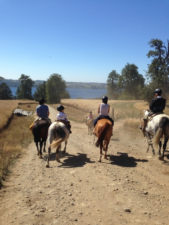 Martin riding with cousins and friends. Happy trails.