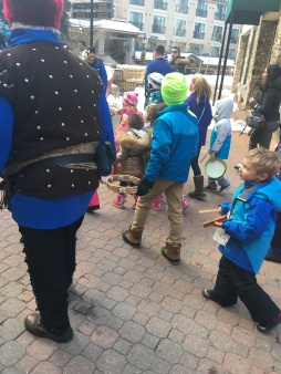 "Martin participating in the ""Kid Parade"" as part of Winterfest, Beaver Creek, Colorado."